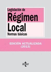 LEGISLACIÓN DE RÉGIMEN LOCAL NORMAS BÁSICAS