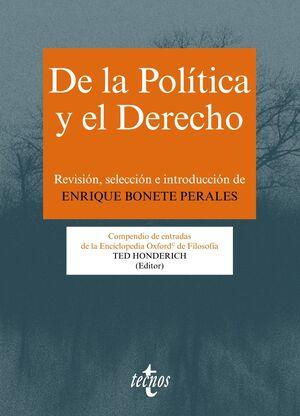 DE LA POLÍTICA Y EL DERECHO