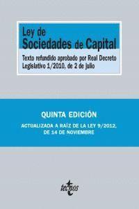 LEY DE SOCIEDADES DE CAPITAL TEXTO REFUNDIDO APROBADO POR REAL DECRETO LEGISLATIVO 1/2010, DE 2 DE J