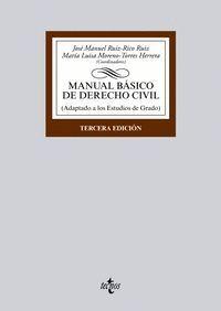 MANUAL BÁSICO DE DERECHO CIVIL ADAPTADO A LOS ESTUDIOS DE GRADO