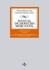 MANUAL DE DERECHO MERCANTIL VOL. I. INTRODUCCIÓN Y ESTATUTO DEL EMPRESARIO. DERECHO DE LA COMPETENCI