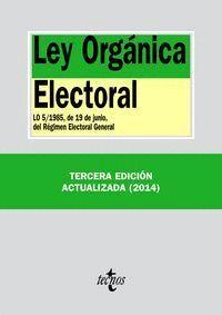 LEY ORGÁNICA ELECTORAL LO 5/1985, DE 19 DE JUNIO, DEL RÉGIMEN ELECTORAL GENERAL. TERCERA EDICIÓN