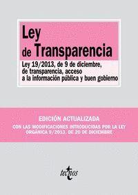 LEY DE TRANSPARENCIA LEY 19/2013, DE 9 DE DICIEMBRE, DE TRANSPARENCIA, ACCESO A LA INFORMACIÓN PÚBLI