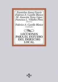 LECCIONES PARA EL ESTUDIO DEL DERECHO LOCAL