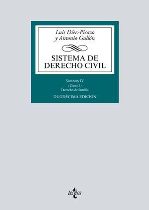 SISTEMA DE DERECHO CIVIL VOLUMEN IV (TOMO 1) DERECHO DE FAMILIA