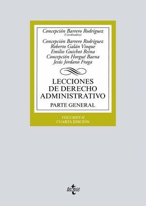 LECCIONES DE DERECHO ADMINISTRATIVO PARTE GENERAL. VOLUMEN II