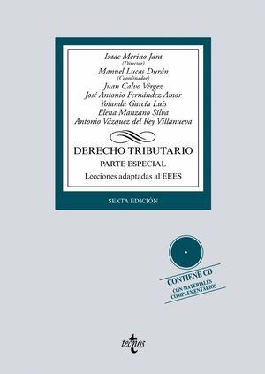 DERECHO TRIBUTARIO PARTE ESPECIAL. LECCIONES ADAPTADAS AL EEES