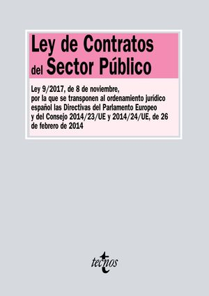 LEY DE CONTRATOS DEL SECTOR PÚBLICO