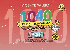 1.040 PREGUNTAS CORTAS EN «CUQUIFICHAS» LPAC