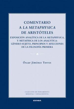 COMENTARIO A LA METAPHYSICA DE ARISTOTELES