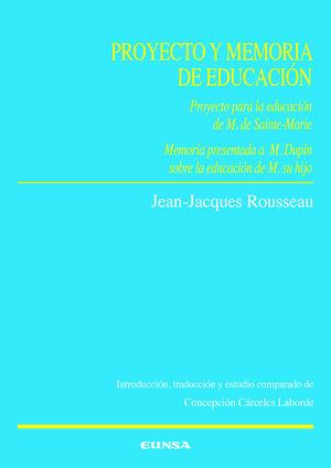 PROYECTO Y MEMORIA DE EDUCACIÓN