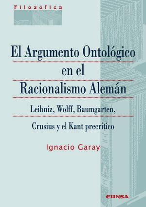 EL ARGUMENTO ONTOLÓGICO EN EL RACIONALISMO ALEMÁN