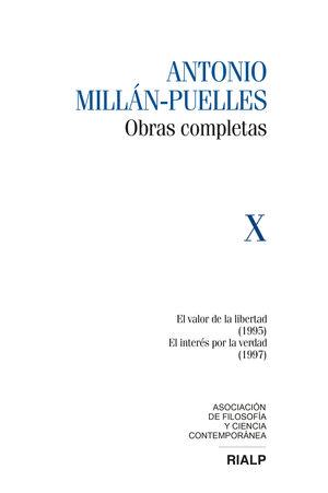 MILLÁN-PUELLES VOL. X OBRAS COMPLETAS
