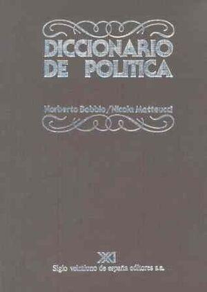 DICCIONARIO DE POLÍTICA. A-J
