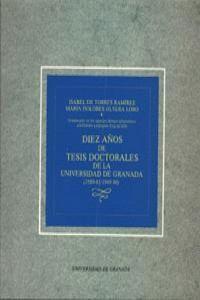DIEZ AÑOS DE TESIS DOCTORALES