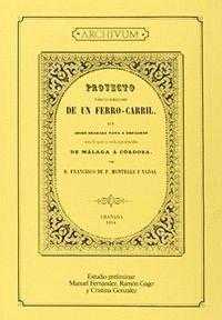 PROYECTO PARA LA EJECUCIÓN DE UN FERRO-CARRIL