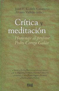 CRÍTICA Y MEDITACIÓN