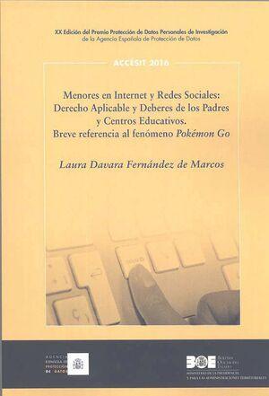 MENORES EN INTERNET Y REDES SOCIALES: DERECHO APLICABLE Y DEBERES DE LOS PADRES Y CENTROS EDUCATIVOS