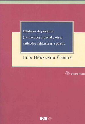 ENTIDADES DE PROPÓSITO (O COMETIDO) ESPECIAL Y OTRAS ENTIDADES VEHICULARES O PUENTE