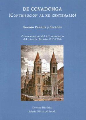 DE COVADONGA (CONTRIBUCIÓN AL XII CENTENARIO)