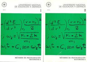 MÉTODOS DE PROGRAMACIÓN MATEMÁTICA