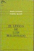 EL LÉXICO DE LUIS MALDONADO