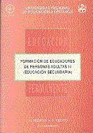 FORMACIÓN DE EDUCADORES DE PERSONAS ADULTAS III. EDUCACIÓN SECUNDARIA.
