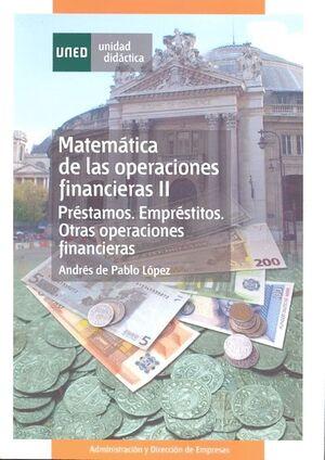 MATEMÁTICA DE LAS OPERACIONES FINANCIERAS II
