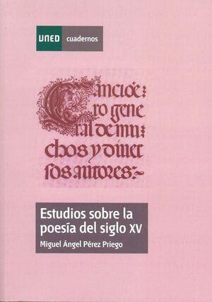 ESTUDIOS SOBRE LA POESÍA  DEL SIGLO XV
