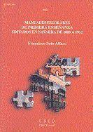 MANUALES ESCOLARES DE PRIMERA ENSEÑANZA EDITADOS EN NAVARRA DE 1800 A 1912