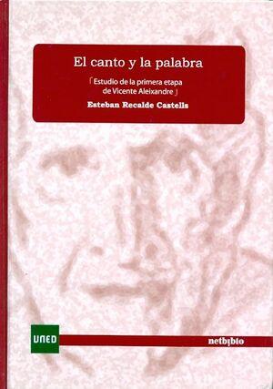 EL CANTO Y LA PALABRA. ESTUDIO DE LA PRIMERA ETAPA DE VICENTE ALEIXANDRE.