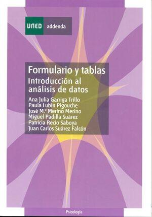 FORMULARIO Y TABLAS: INTRODUCCIÓN AL ANÁLISIS DE DATOS
