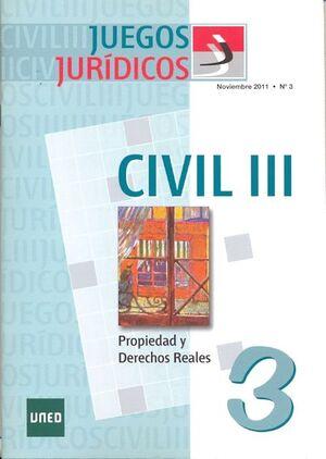 JUEGOS JURÍDICOS. DERECHO CIVIL III. Nº 3
