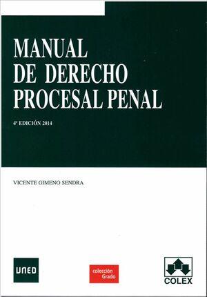 MANUAL DE DERECHO PROCESAL PENAL 4ª EDICIÓN