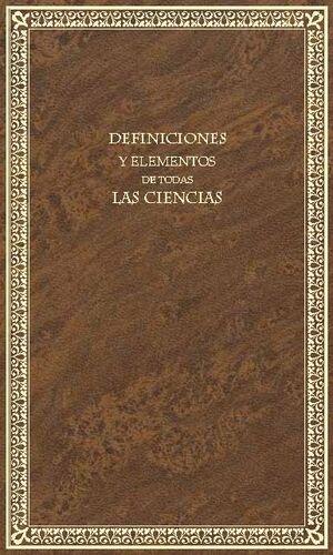 DEFINICIONES Y ELEMENTOS DE TODAS LAS CIENCIAS