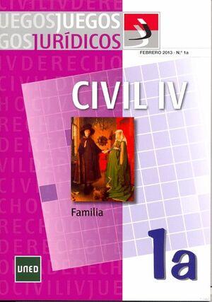 JUEGOS JURÍDICOS. DERECHO CIVIL IV: FAMILIA Nº 1A