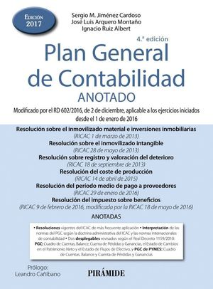 PLAN GENERAL DE CONTABILIDAD ANOTADO