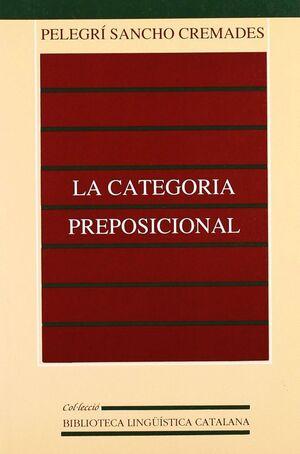 LA CATEGORIA PREPOSICIONAL
