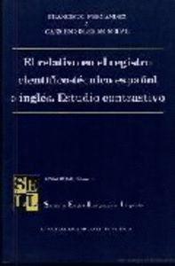 EL RELATIVO EN EL REGISTRO CIENTÍFICO-TÉCNICO ESPAÑOL E INGLÉS. ESTUDIO CONTRASTIVO