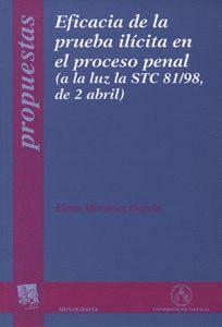 EFICACIA DE LA PRUEBA ILÍCITA EN EL PROCESO PENAL (A LA LUZ LA STC 81/98, DE 2 ABRIL)