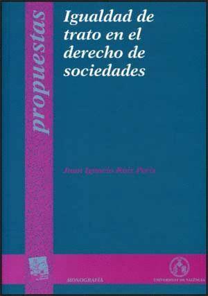 IGUALDAD DE TRATO EN EL DERECHO DE SOCIEDADES
