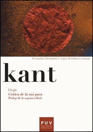KANT. LLEGIR LA CRÍTICA DE LA RAÓ PURA
