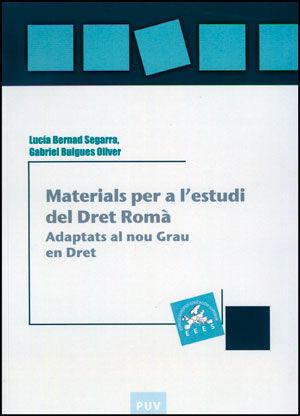 MATERIALS PER A L'ESTUDI DEL DRET ROMÀ