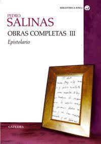 OBRAS COMPLETAS, VOLUMEN III EPISTOLARIO