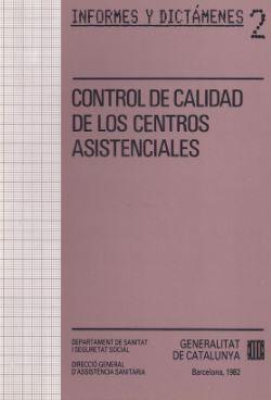CONTROL DE CALIDAD DE LOS CENTROS ASISTENCIALES