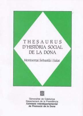 THESAURUS D´HISTÒRIA SOCIAL DE LA DONA