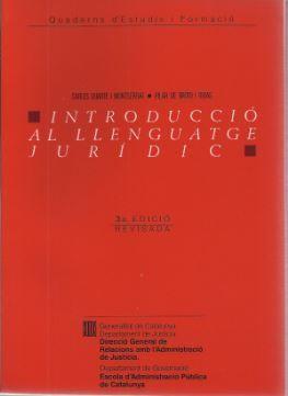 INTRODUCCIÓ AL LLENGUATGE JURÍDIC