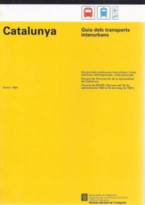 CATALUNYA. GUIA DELS TRANSPORTS INTERURBANS 1991