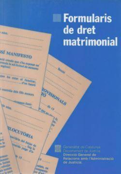 FORMULARIS DE DRET MATRIMONIAL