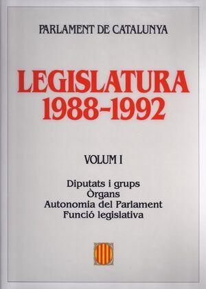 LEGISLATURA 1988-1992. PARLAMENT DE CATALUNYA (4 VOLUMS)